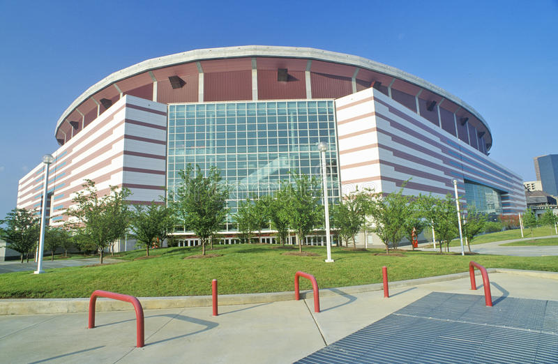 Georgia Dome, één van de grootste multifunctionele sporten en de vermaakcomplexen in de Verenigde Staten, Atlanta, Georgië royalty-vrije stock foto
