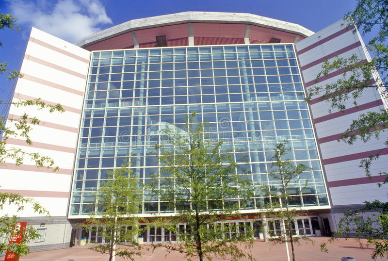 Georgia Dome ett av de största sportarna och underhållningkomplexen som kan användas till mycket i Förenta staterna, Atlanta, Geo arkivfoton