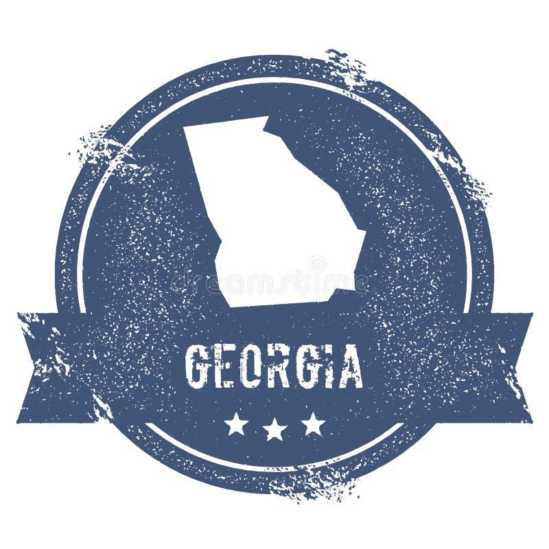 Georgia fläck stock illustrationer