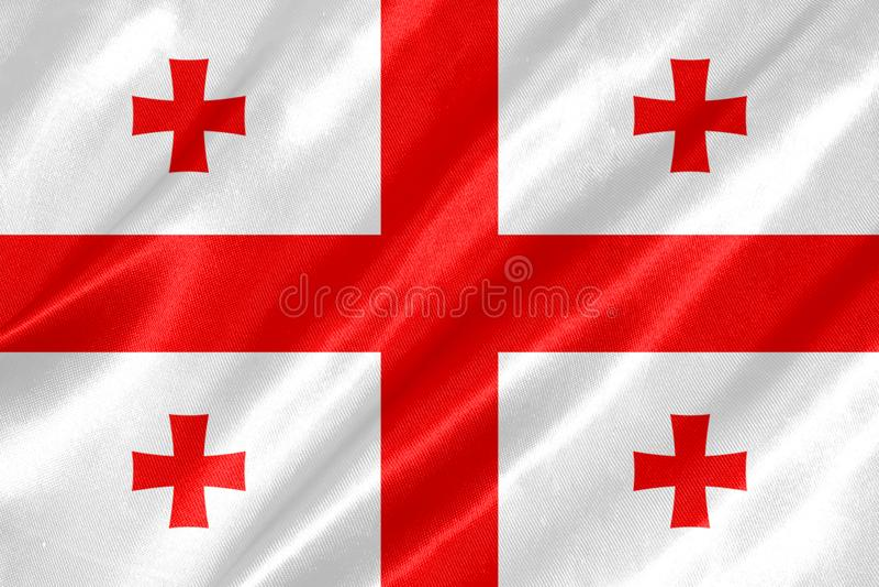 Georgia Flag immagini stock libere da diritti