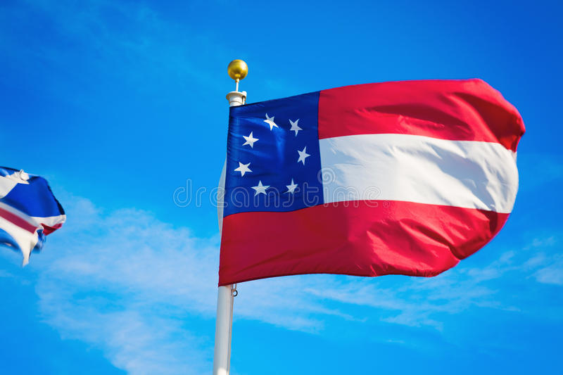 Download Georgia flag stock image. Image of pole, travel, cloud - 27986753