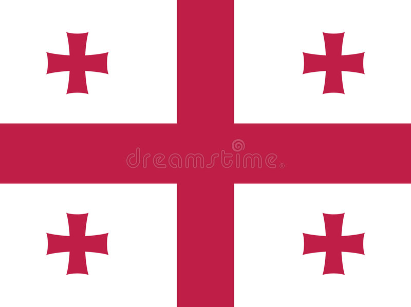 Download Georgia flag stock vector. Image of illustrated, flag - 6894304
