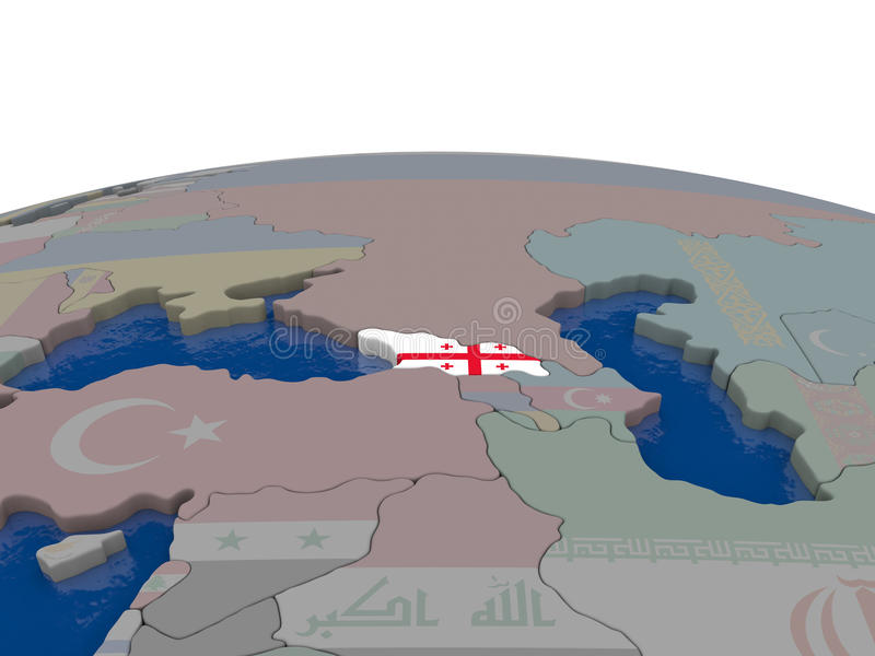 Download Georgia With Flag Stock Illustration - Image: 83718371