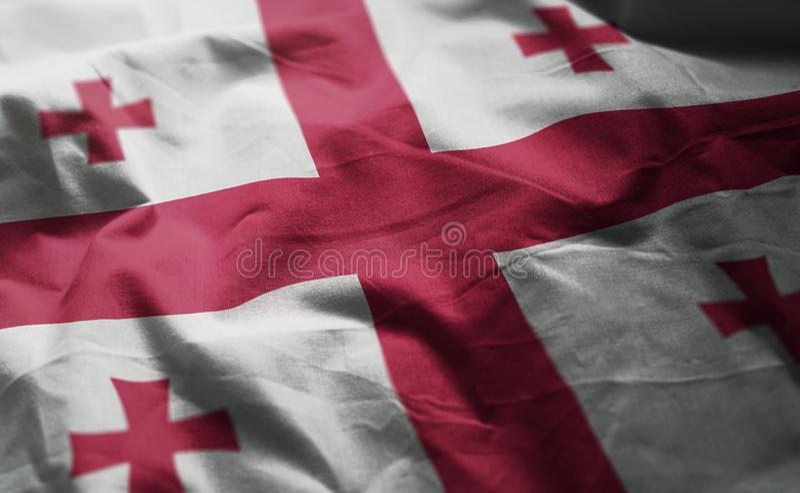 Georgia Flag Rumpled Close Up imagenes de archivo