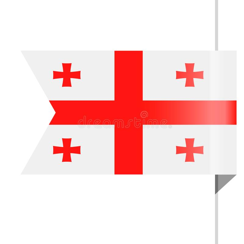 Georgia Flag Vector Bookmark Icon stock de ilustración