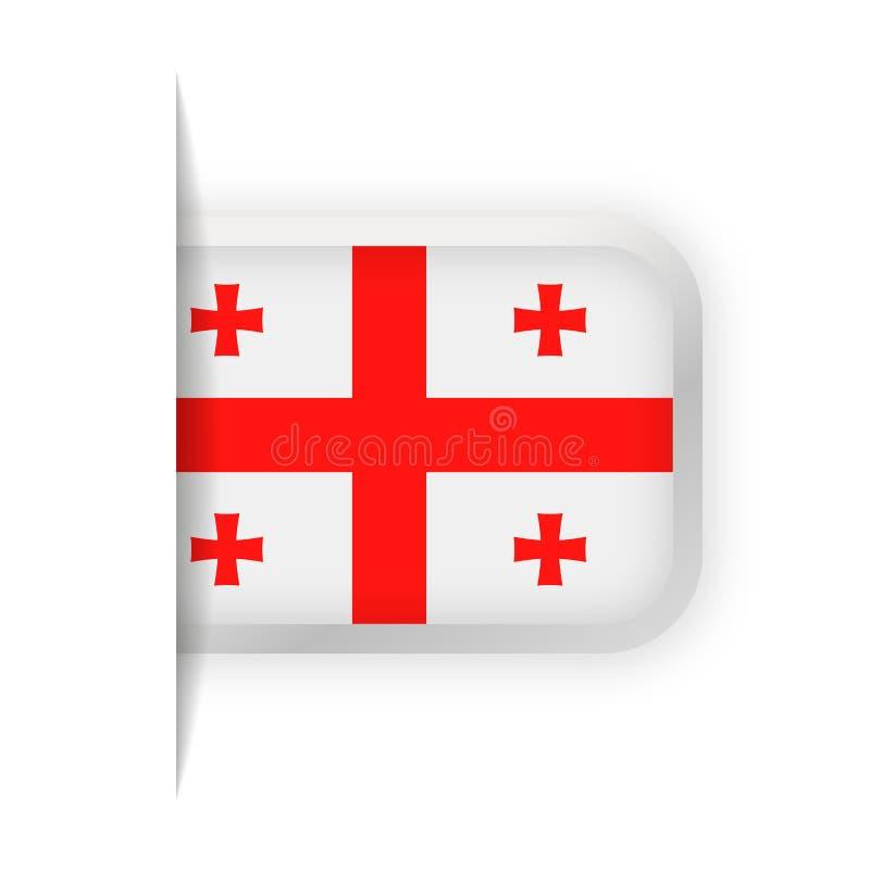 Georgia Flag Vector Bookmark Icon libre illustration