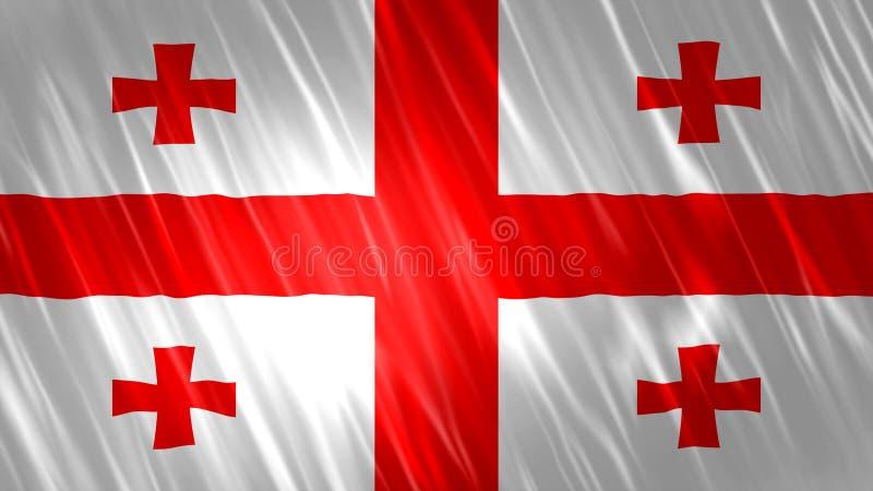 Georgia Flag stock illustratie