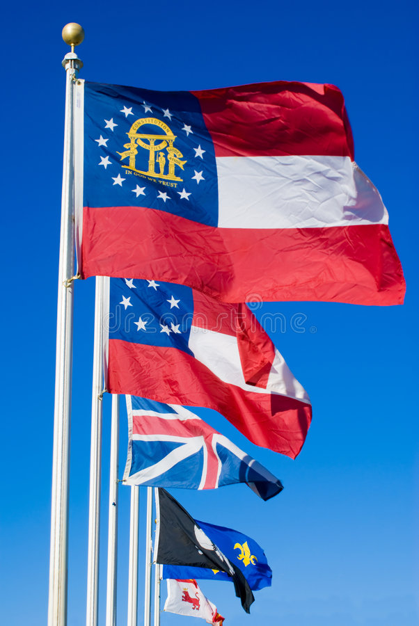 Georgia Flags royalty free stock images