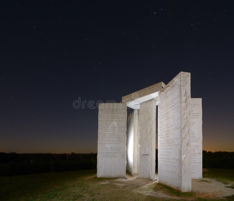 georgia guidestones arkivfoto