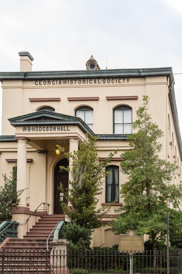 Download Georgia Historical Society foto de archivo. Imagen de fachada - 64211958