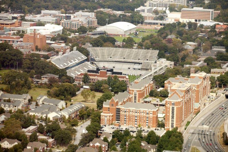 Georgia Institute of Technology e Bobby Dodd Stadium immagine stock