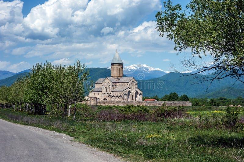 Georgia, Kakheti. Alaverdi - monastery and cathedral. Officially the Cathedral of St. George in the Akhmeta region of Kakheti stock photos