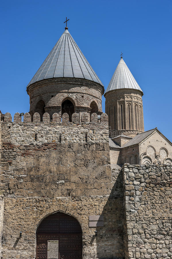 Georgia, Kakheti. Alaverdi - monastery and cathedral. Officially the Cathedral of St. George in the Akhmeta region of Kakheti stock images