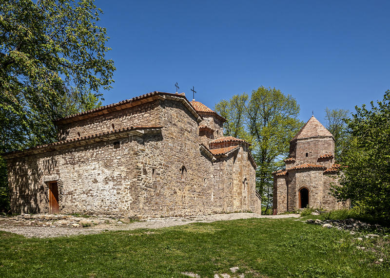 Georgia, Kakheti , Old Shuatma convent. Founded in the 16th century stock image