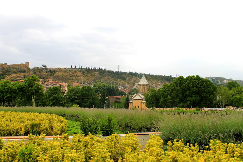 georgia Le centre de Tbilisi photographie stock libre de droits