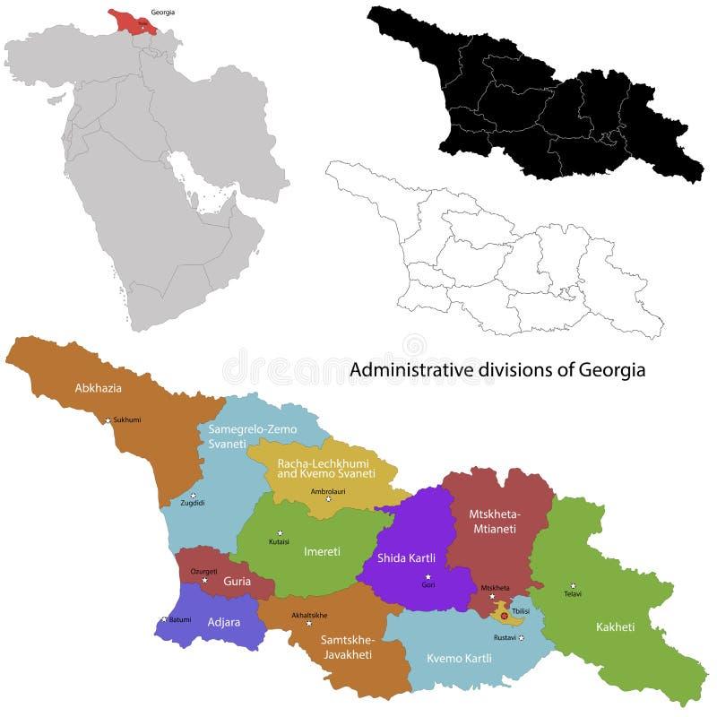 Georgia map stock vector Illustration of georgian atlas 31464425