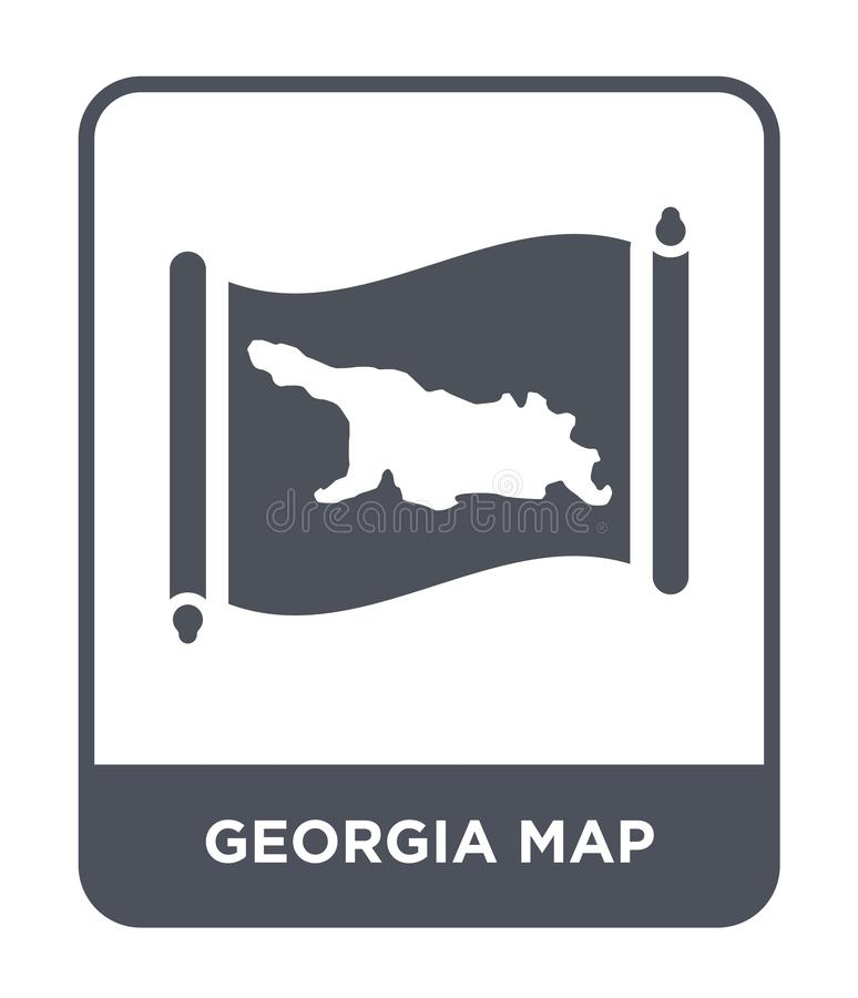 Georgia map icon in trendy design style. georgia map icon isolated on white background. georgia map vector icon simple and modern. Flat symbol for web site royalty free illustration