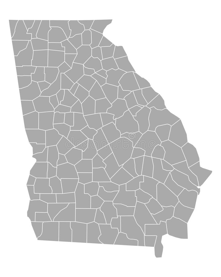 georgia mapa ilustracja wektor
