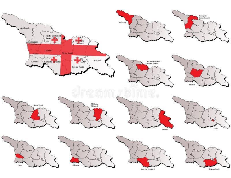 Download Georgia provinces maps stock vector. Image of flag, georgian - 31933160
