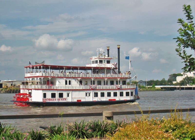 Georgia Queen Steamboat dans la savane, la Géorgie image libre de droits
