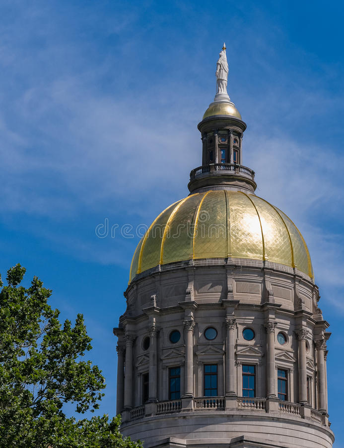 Georgia State Capital Building royaltyfri fotografi