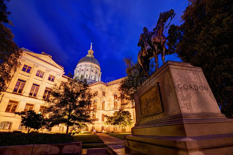 Georgia State Capitol stock afbeelding