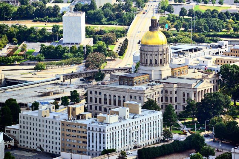 Georgia State-capitol royalty-vrije stock afbeelding