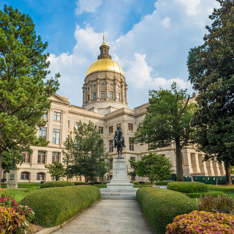 Georgia State Capitol Building in Atlanta, Georgia stock images
