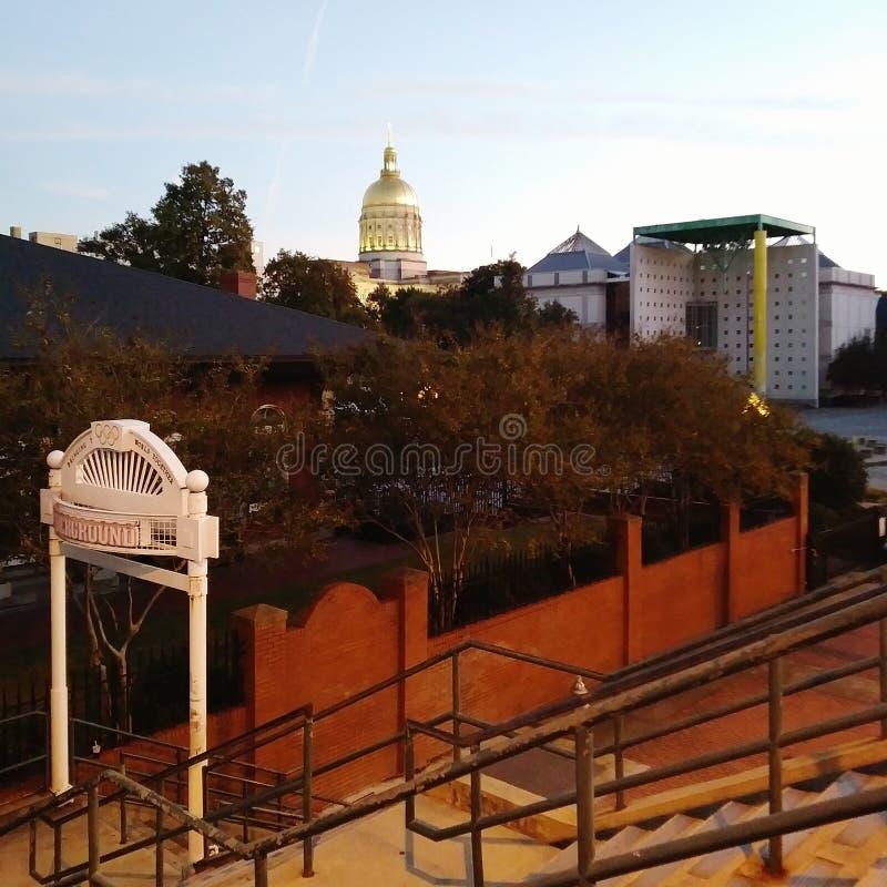 Georgia State Capitol Building View at Sunset, Atlanta. royalty free stock photo