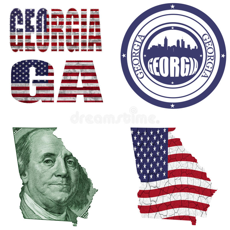 Download Georgia state collage stock illustration. Image of georgia - 31272452