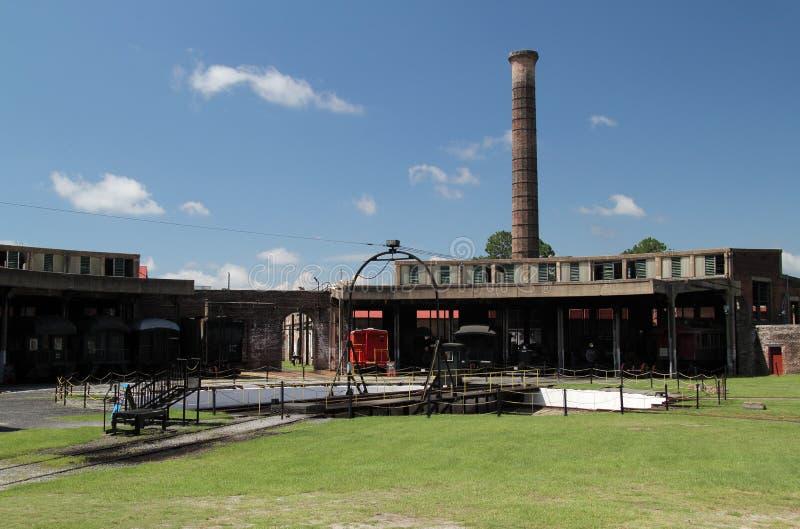 Georgia State Railroad Museum royalty-vrije stock afbeelding