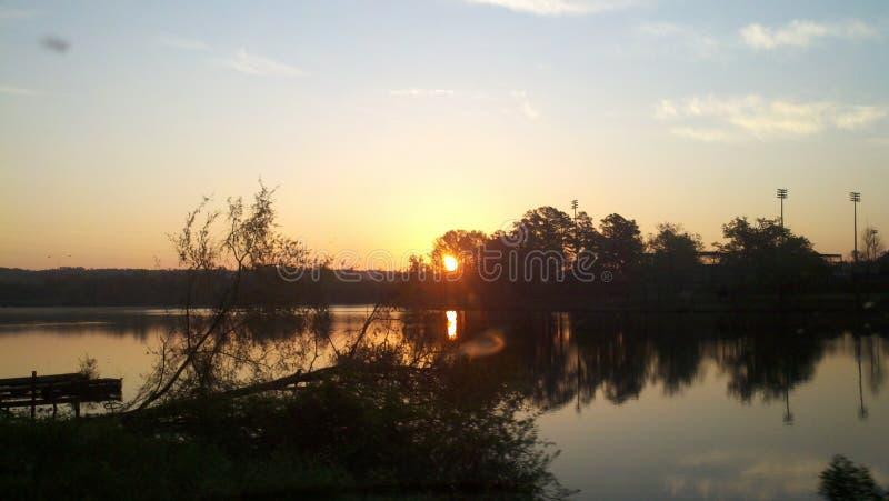 Georgia Sunset Lakeview fotografía de archivo libre de regalías