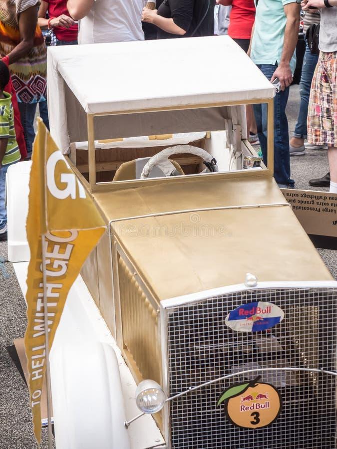 Georgia Tech Red Bull Soapbox-Auto stock afbeeldingen
