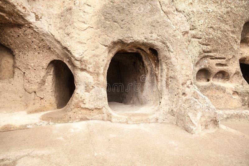 Vardzia. Hole, dwelling. stock image