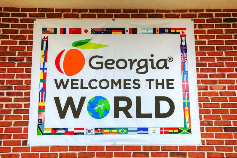 Georgia welomes världstecknet royaltyfri bild