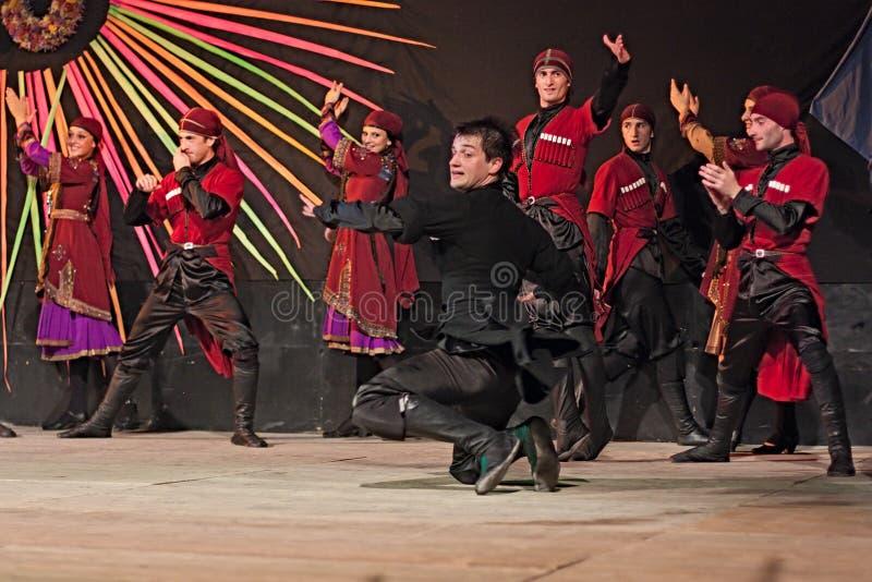 Georgian танцоры стоковые изображения rf