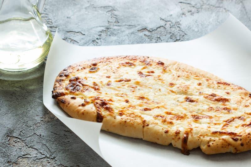 Georgian bread with cheese stock photo