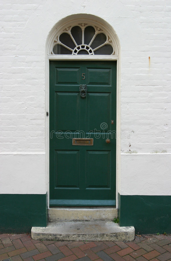 georgian dörr 8 arkivfoton