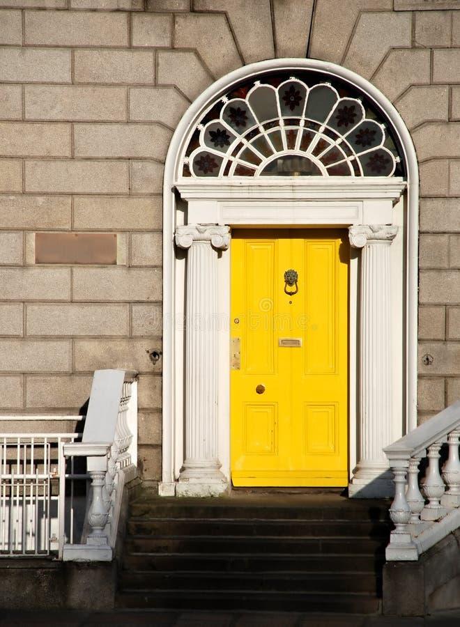 Georgian door in Dublin stock photo