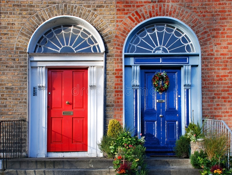 Georgian doors in Dublin royalty free stock photography
