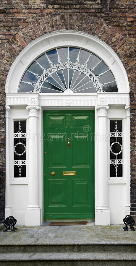 Georgian doorway stock image