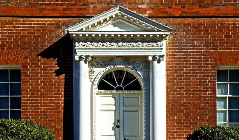 georgian drzwi frontowe obraz stock