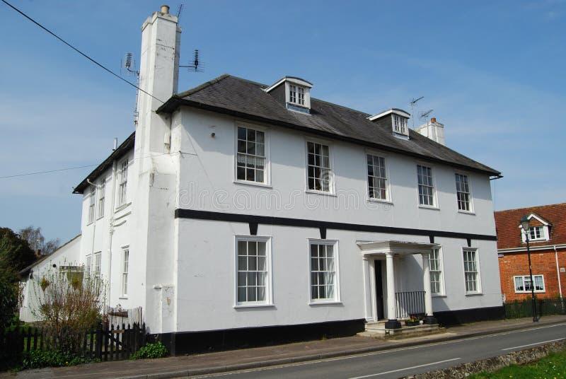 Georgian house Fordingbridge, Hampshire royalty free stock image