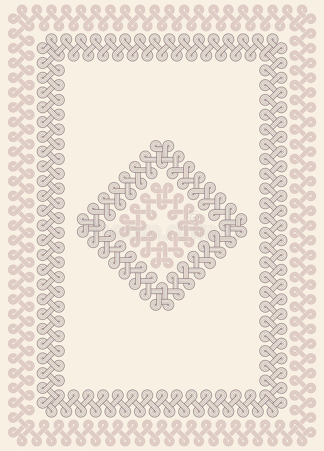 Download Georgian knot ornament stock illustration. Illustration of carving - 20971012