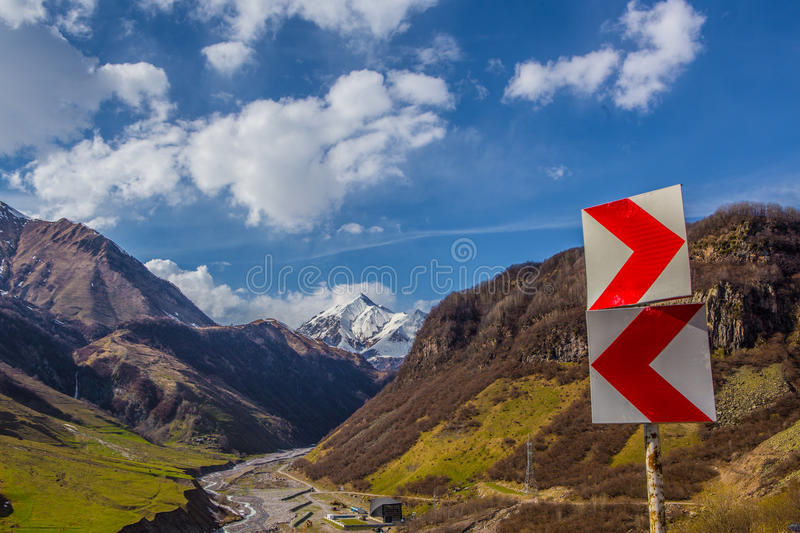 Georgian Military Highway stock photos