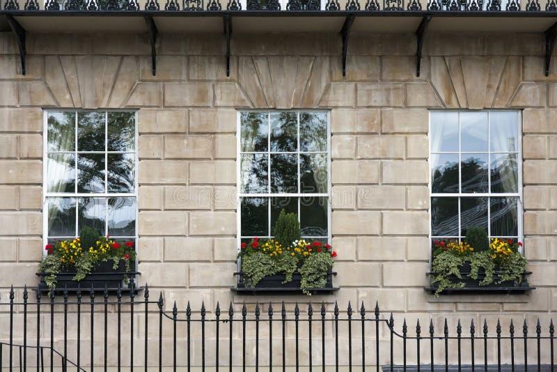 Georgian window triptych stock photo