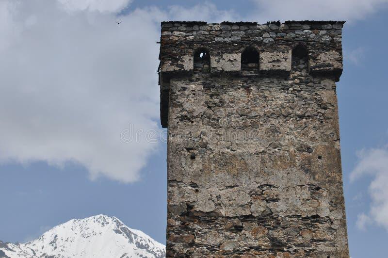 Georgien Swankturm Wohnungsbau in den Bergen defensiv Kaukasus stockbild
