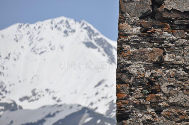 Georgien Swankturm Wohnungsbau in den Bergen defensiv Kaukasus lizenzfreies stockfoto