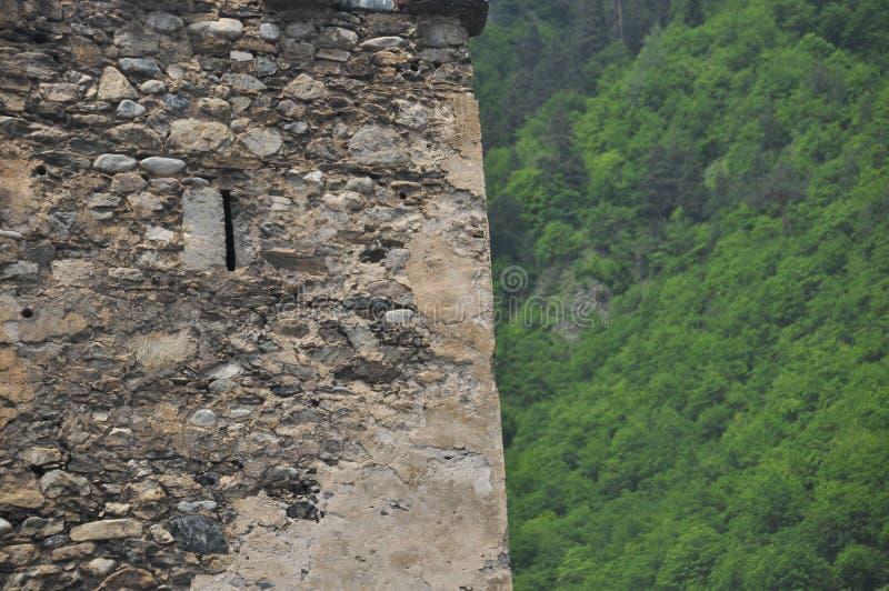 Georgien Swankturm Wohnungsbau in den Bergen defensiv Kaukasus lizenzfreie stockfotografie