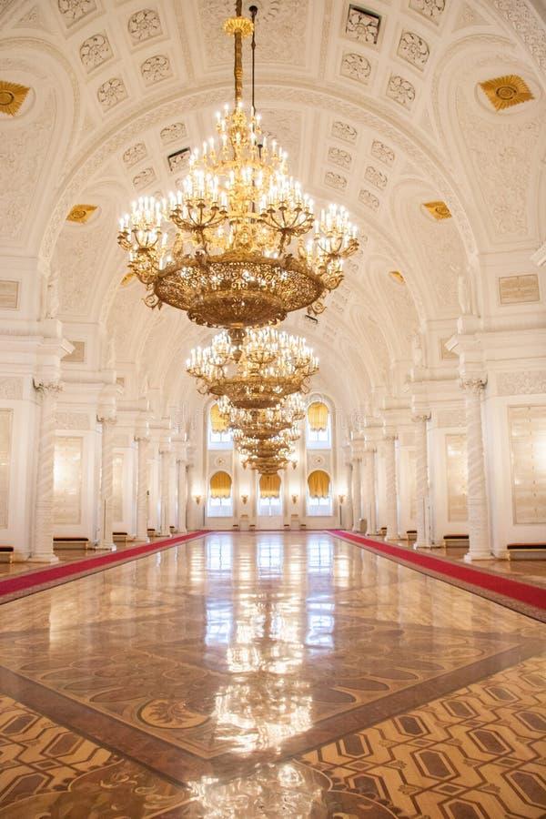 Georgievsky Hall av Kremlslotten royaltyfri foto